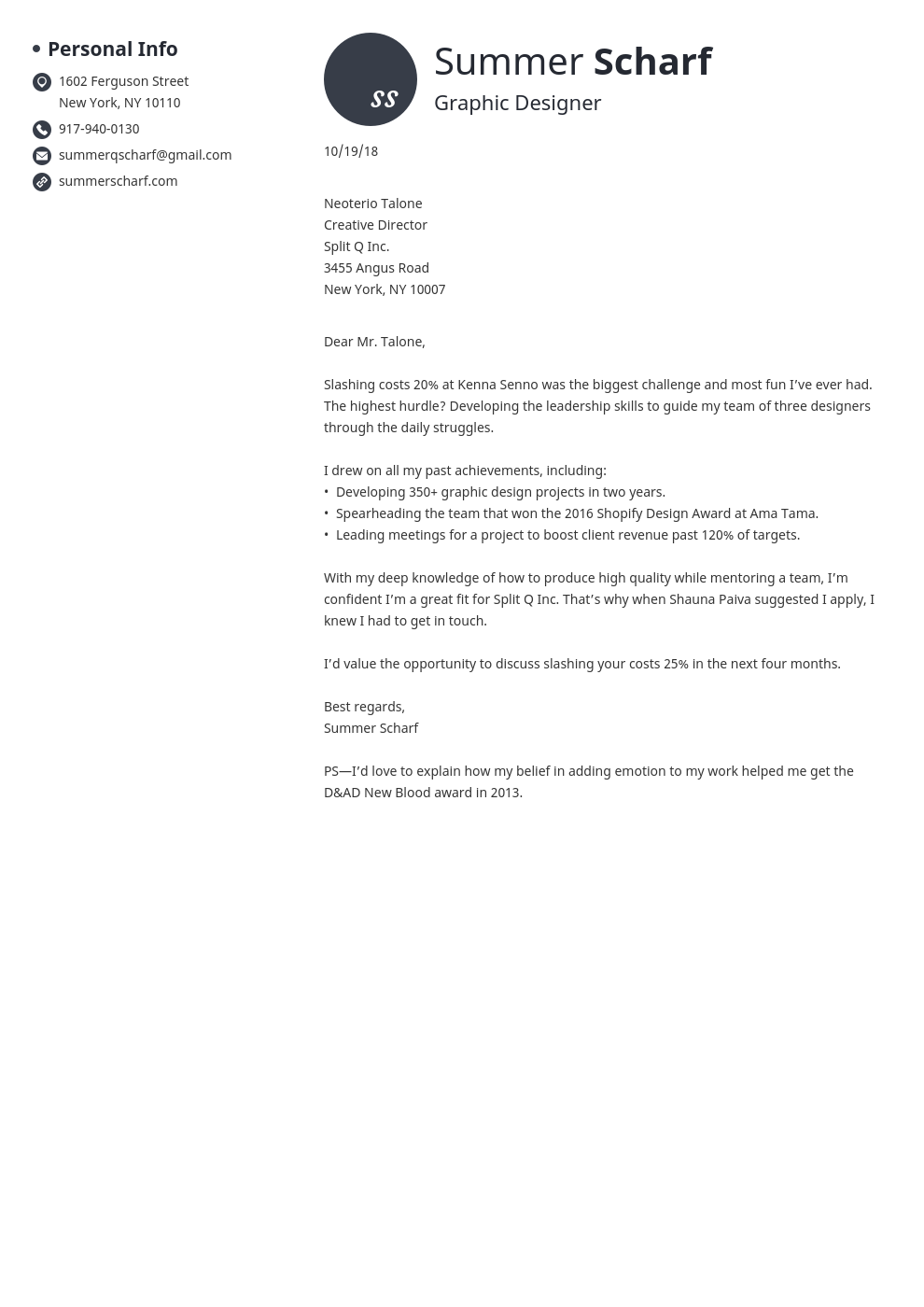 cover letter how to start template initials
