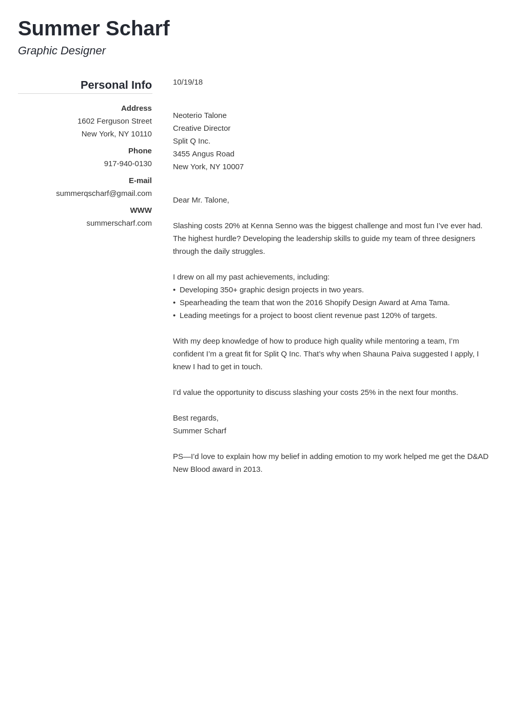 cover letter how to start template simple