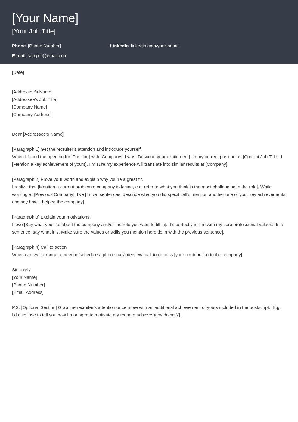cover letter look template influx