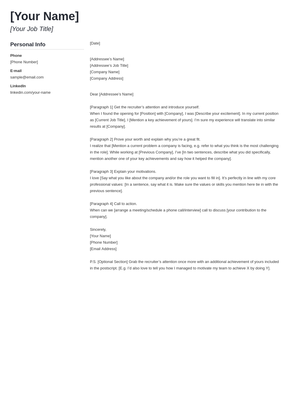 cover letter look template muse