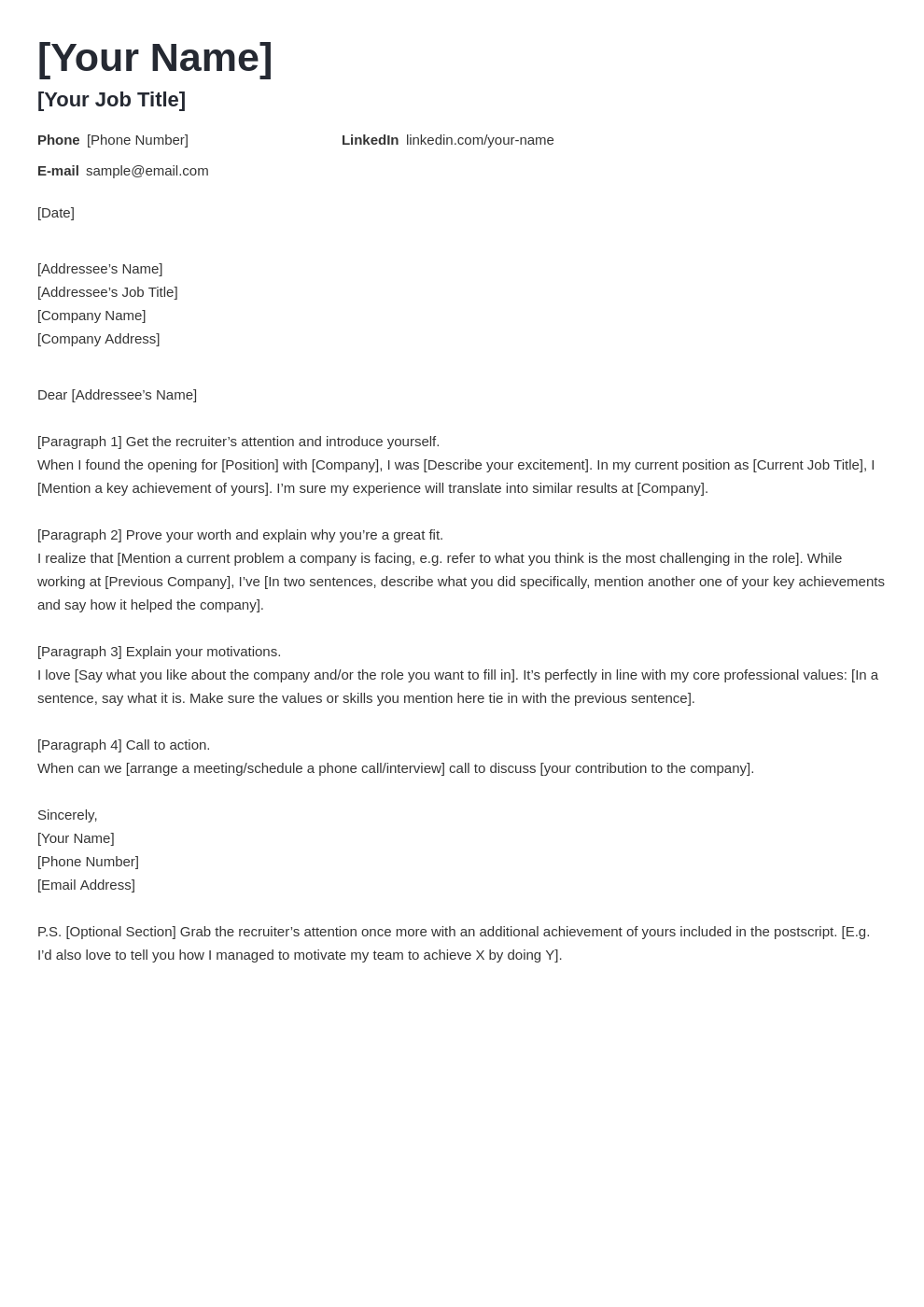 cover letter look template valera