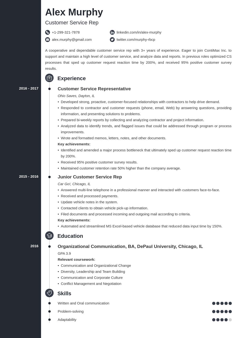 customer service template concept uk