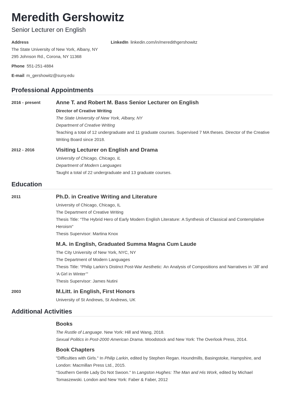 cv academic template nanica