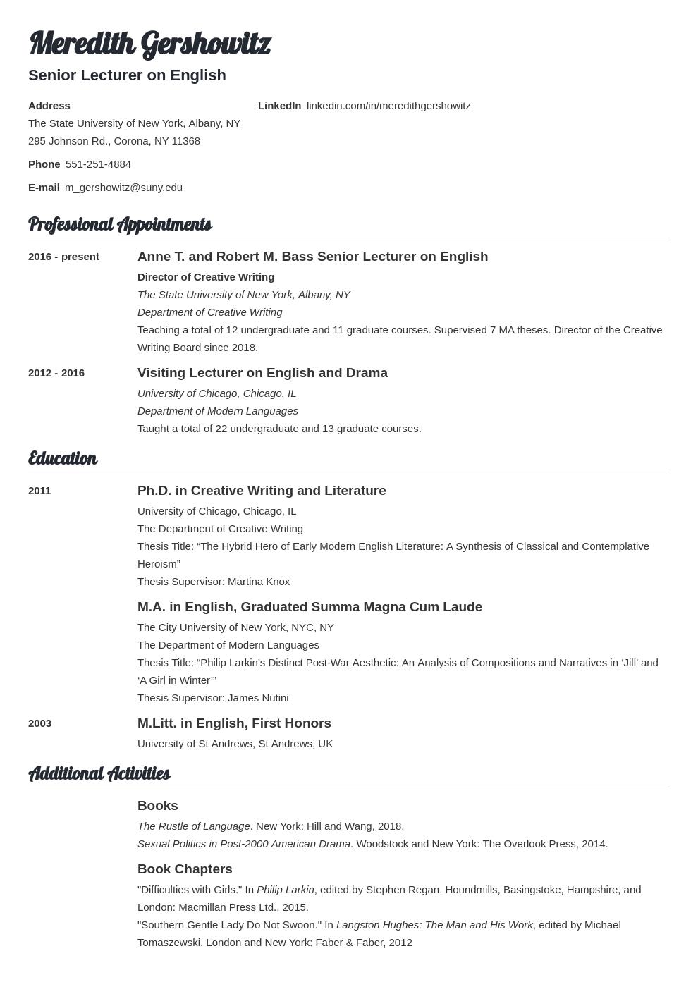 cv academic template valera uk