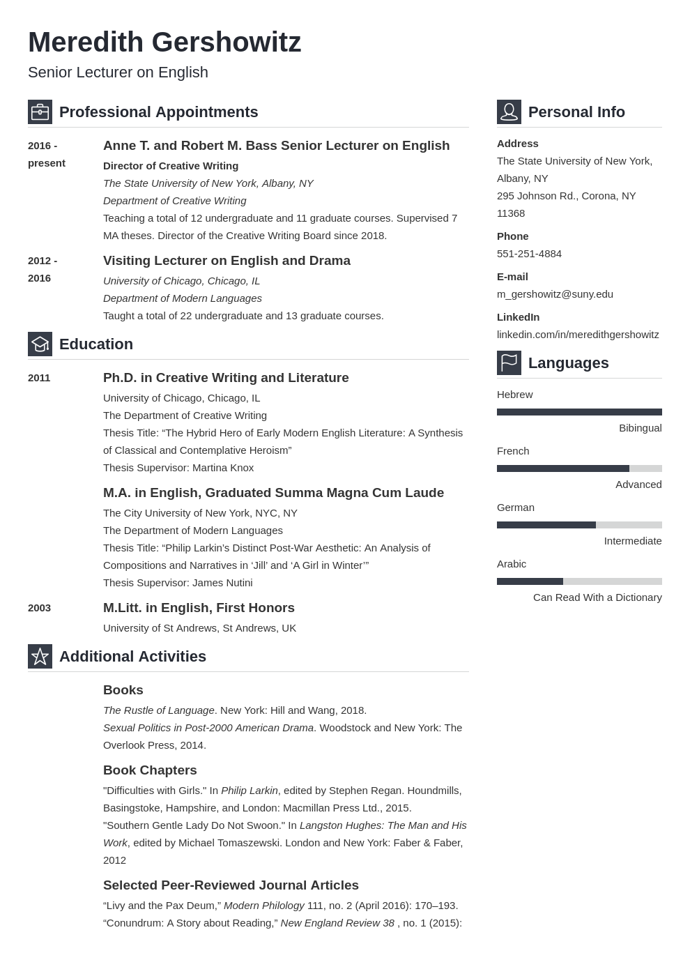 cv academic template vibes uk