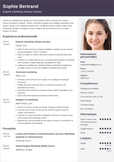 modèle de CV