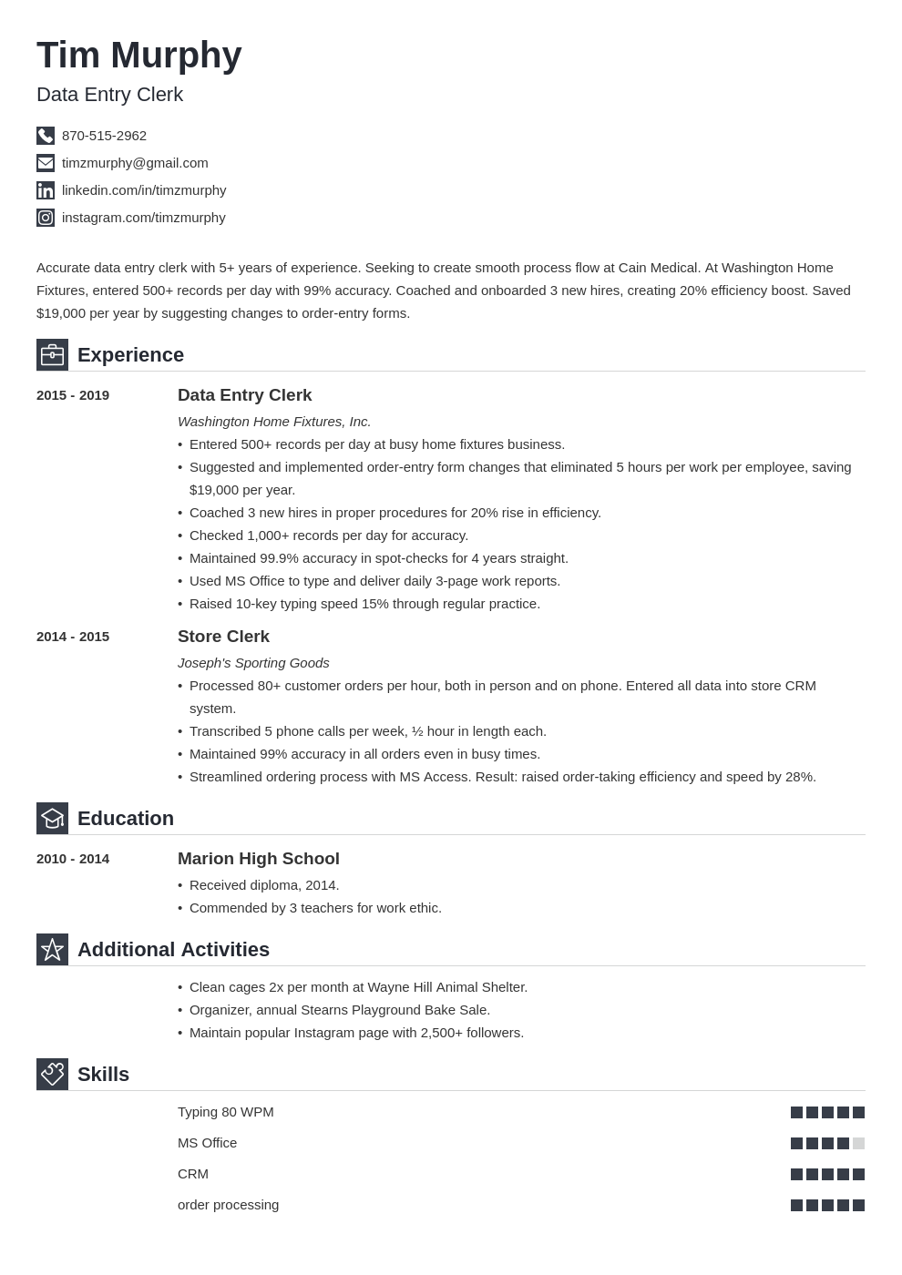 data entry template iconic uk