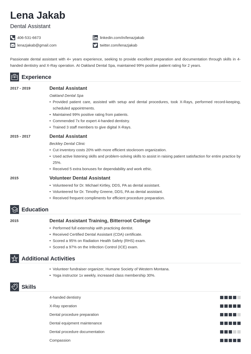 dental assistant template iconic uk