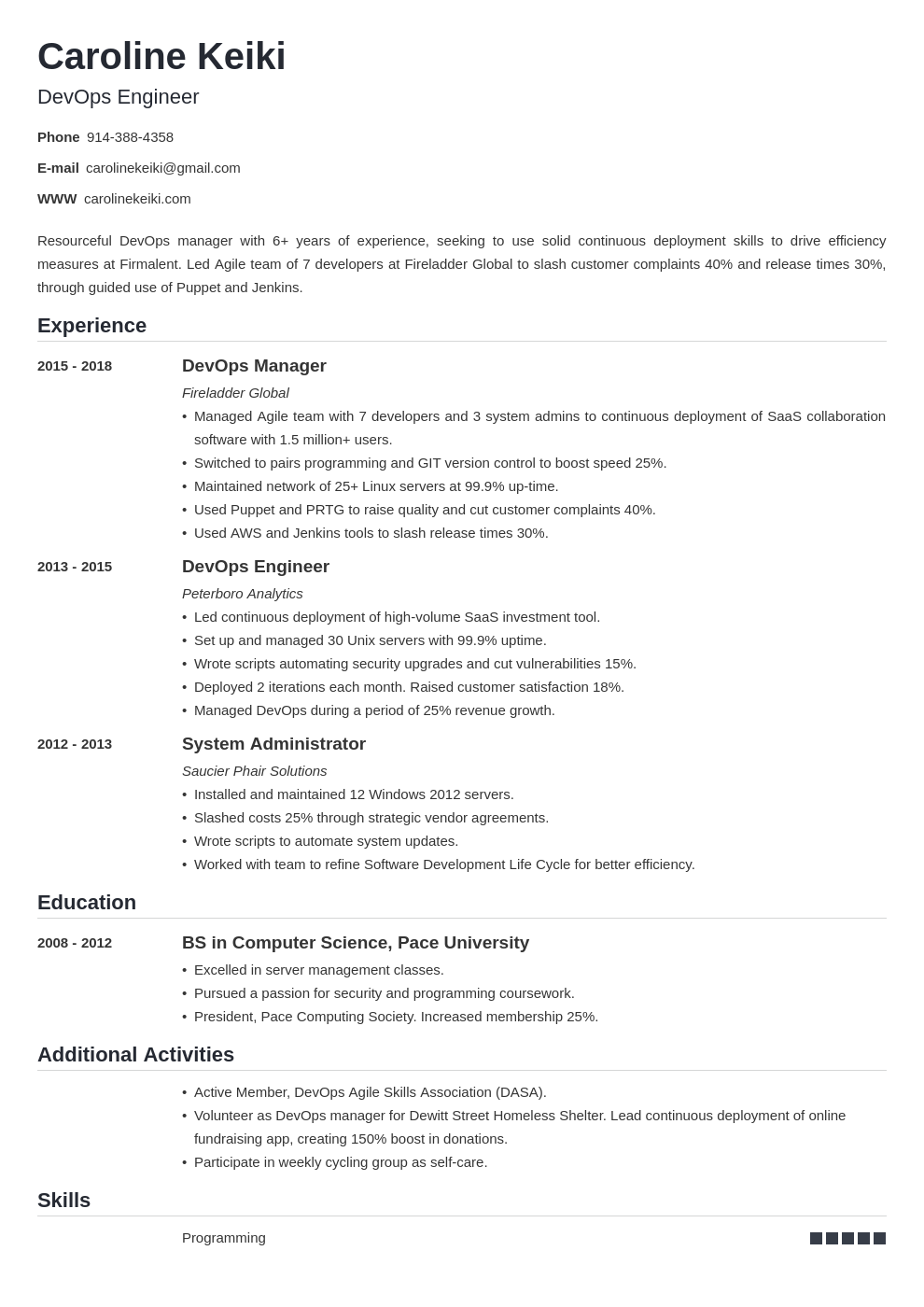 devops resume sample—template 25 examples and writing tips