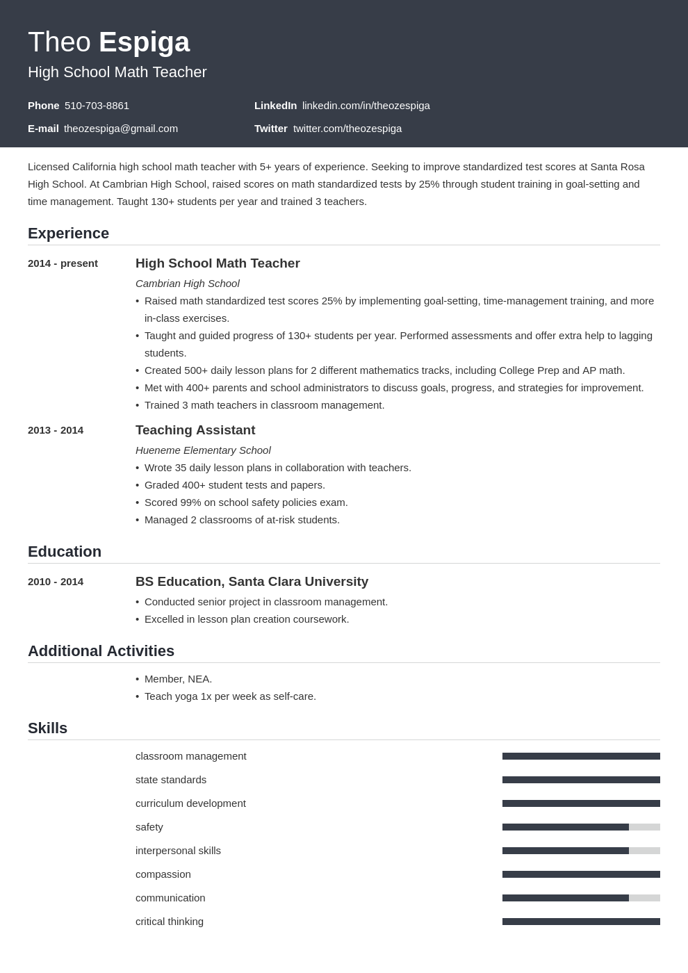 education template influx