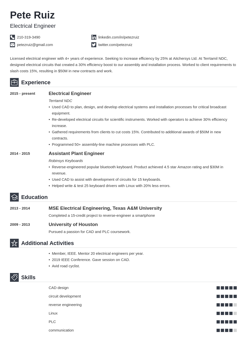 electrical engineering template iconic uk