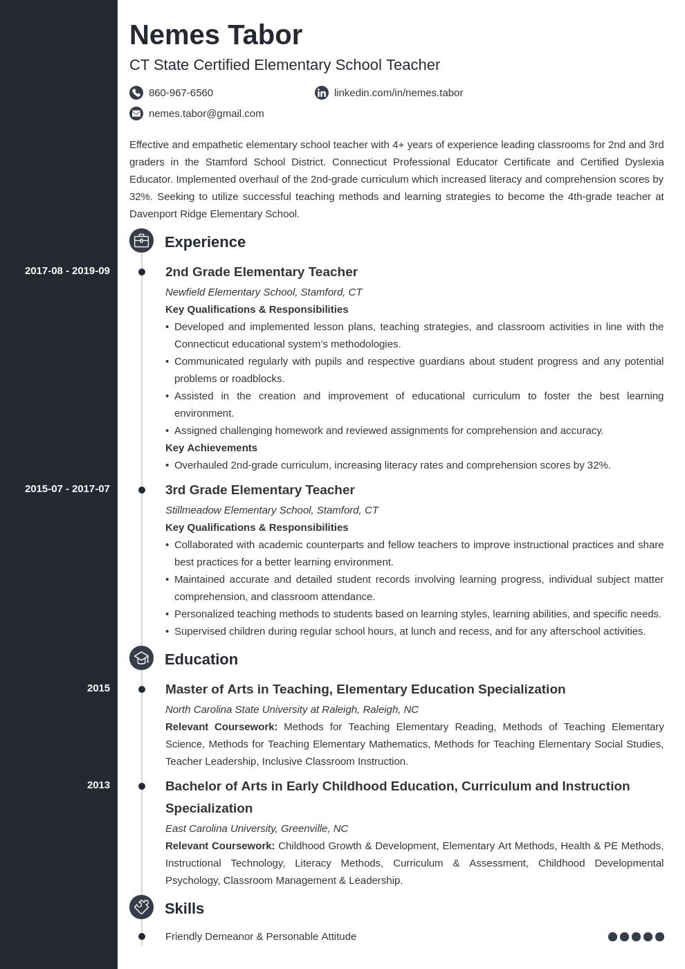elementary teacher template concept uk