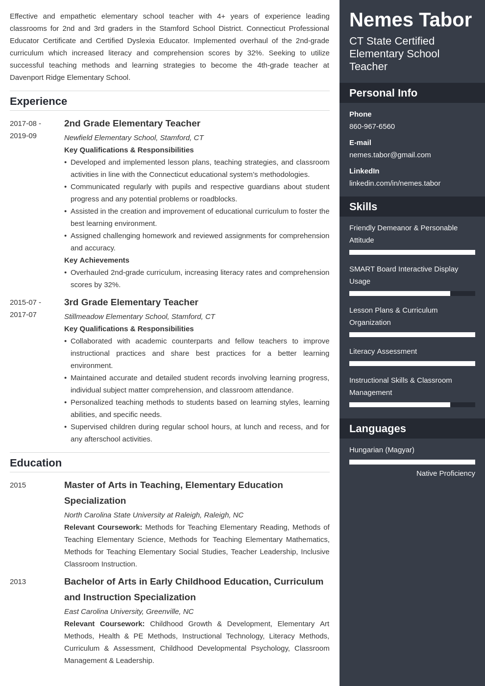 elementary teacher template enfold uk