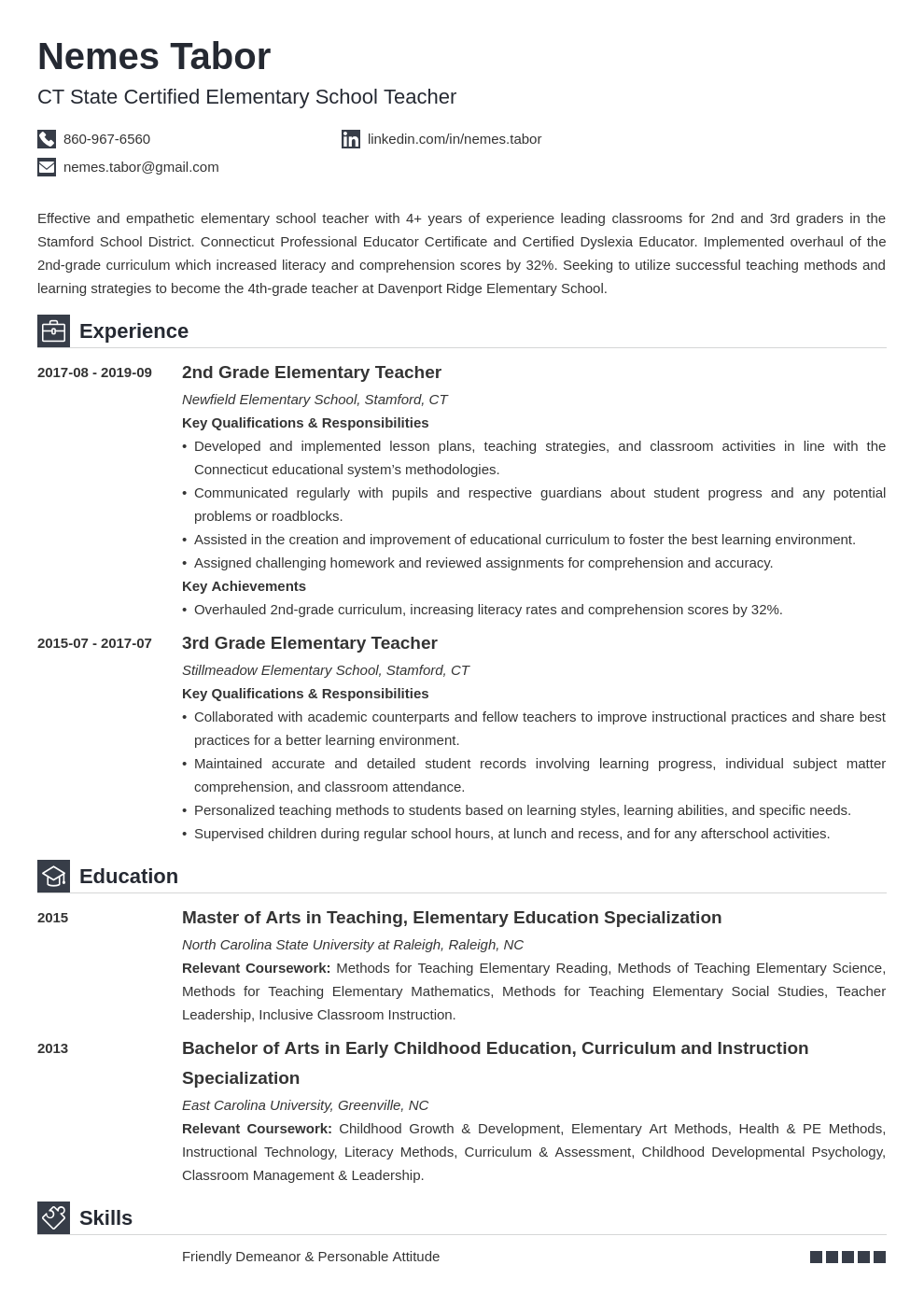 elementary teacher resume—examples and 25 writing tips