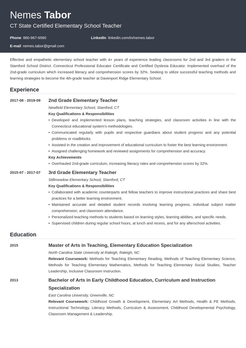 elementary teacher template influx uk