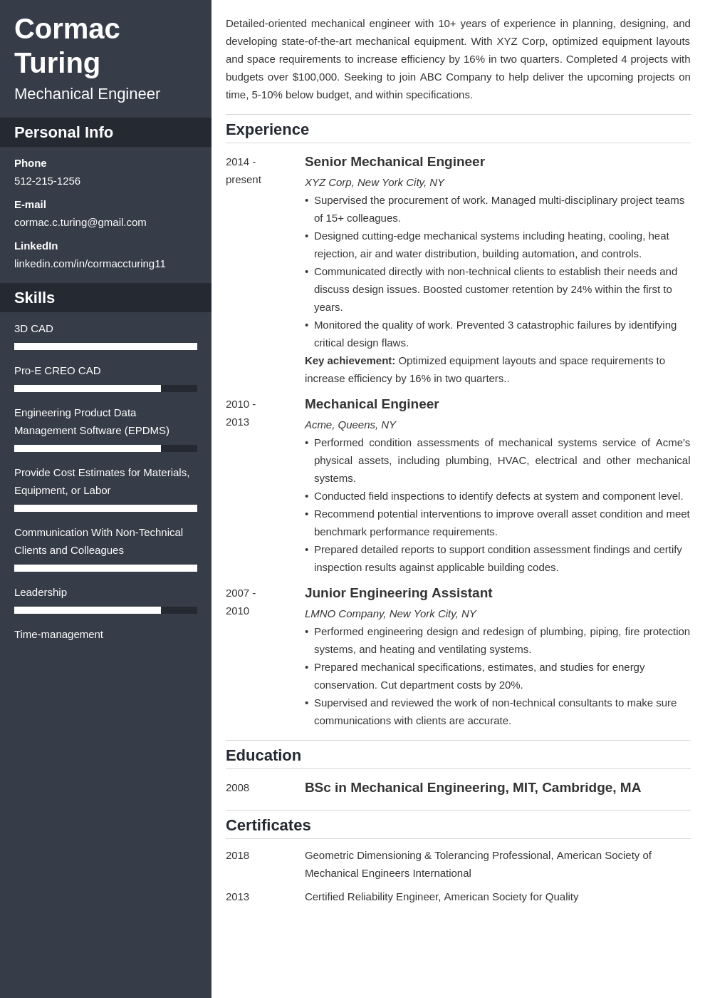 engineering template cascade uk
