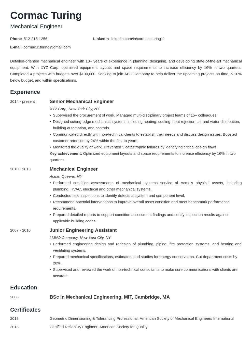 engineering template minimo uk