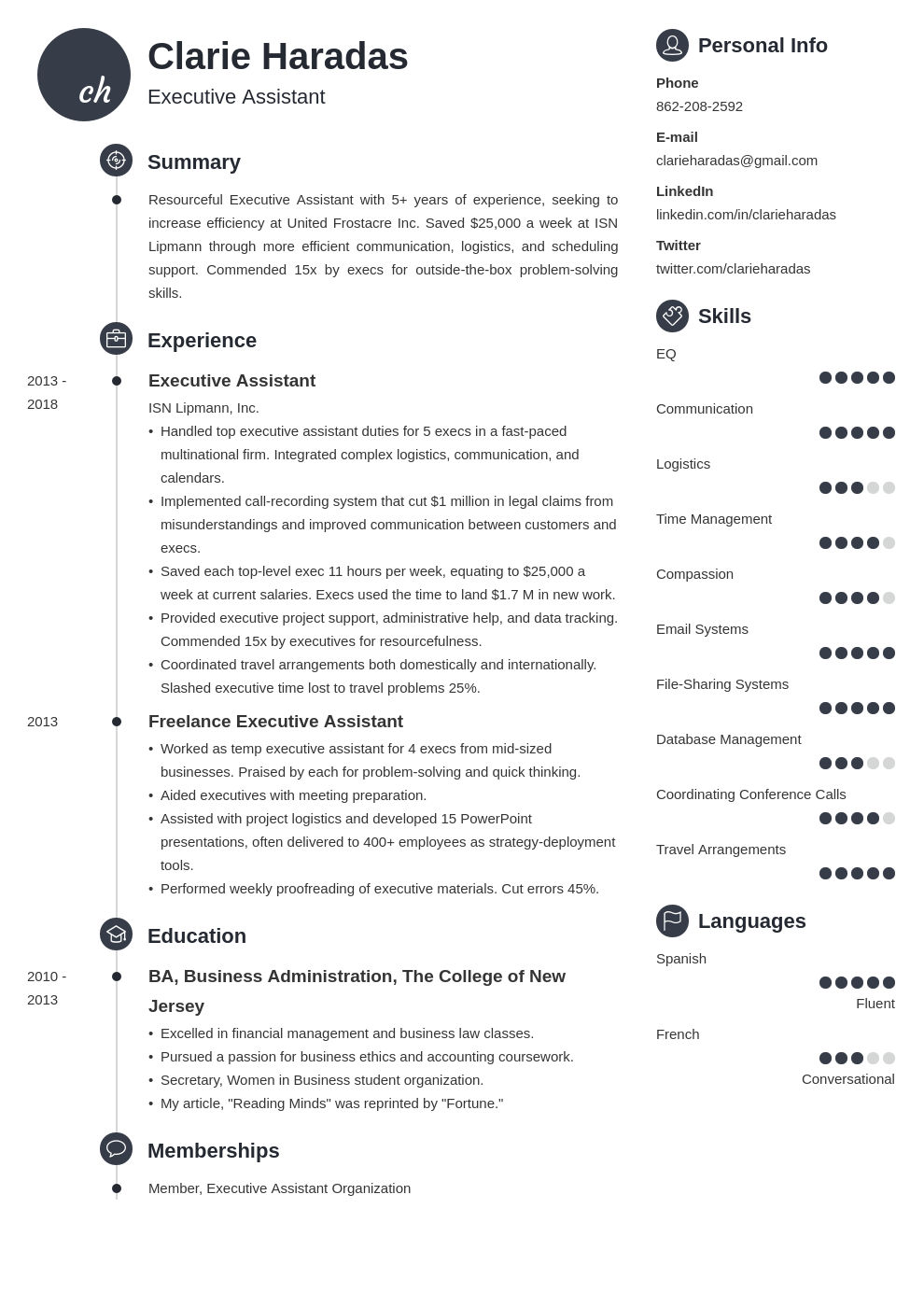 executive assistant resume sample—20 examples and writing