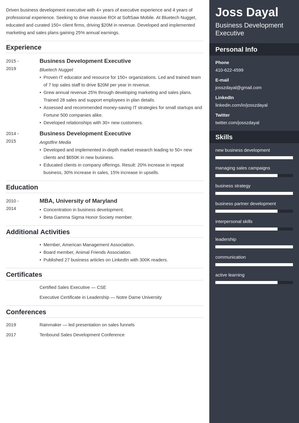 executive template enfold uk