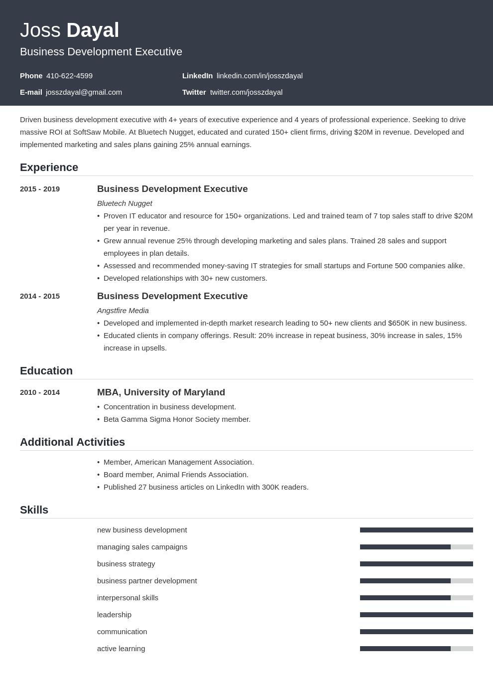executive template influx uk