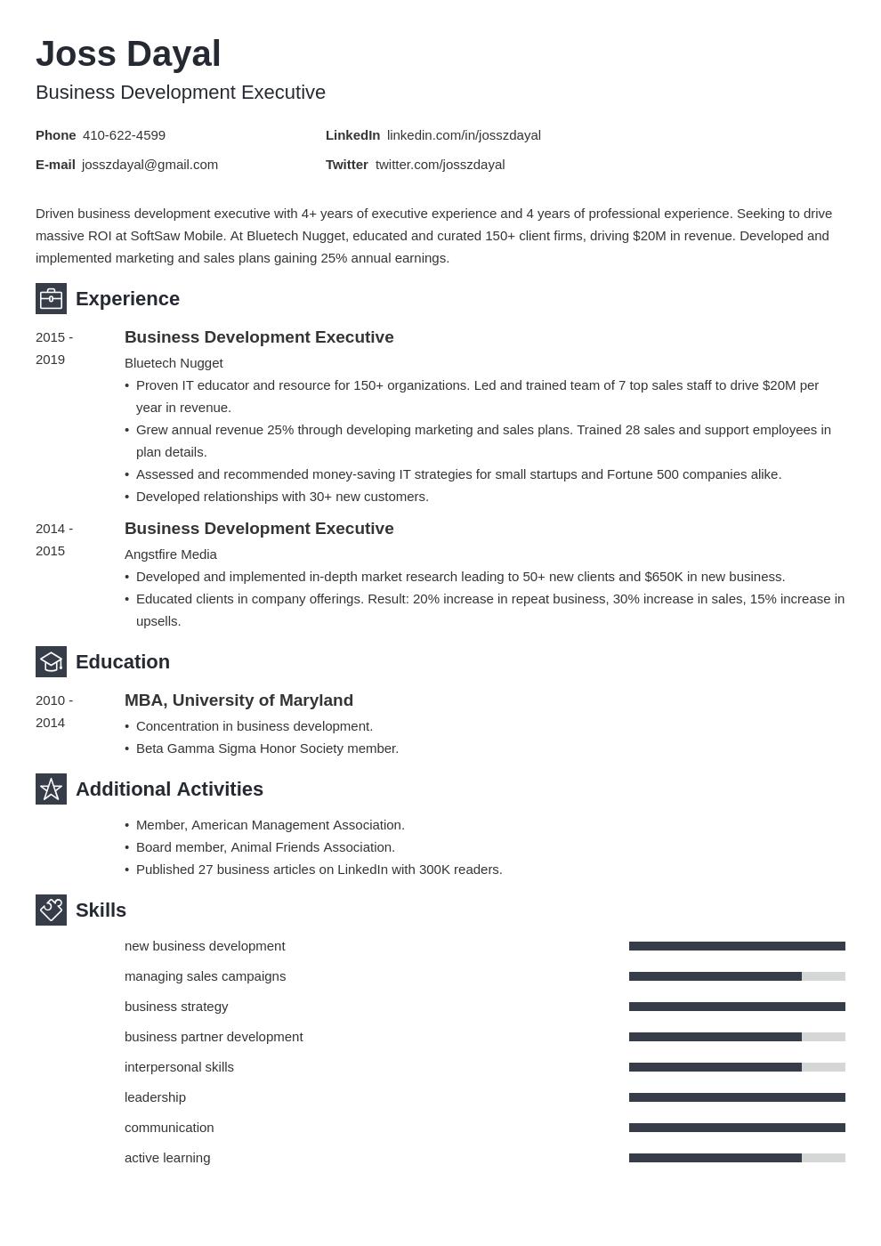 executive template newcast