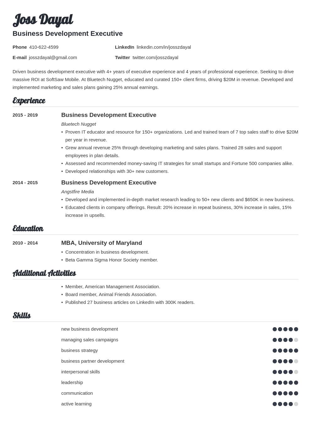 executive template valera uk
