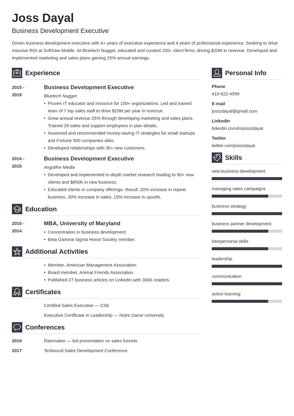 executive template vibes uk