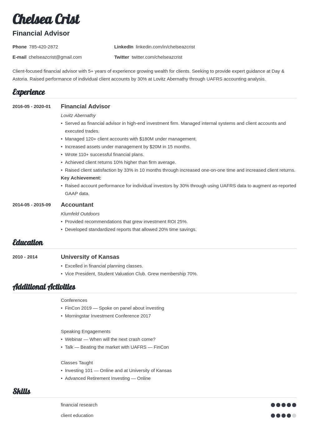 financial advisor template valera uk