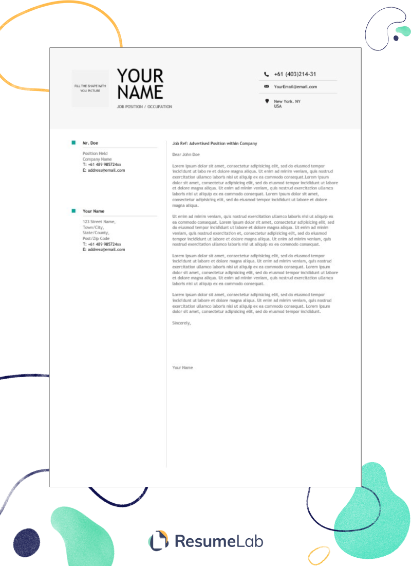 50 free cover letter templates for word  modern  simple  u0026 more