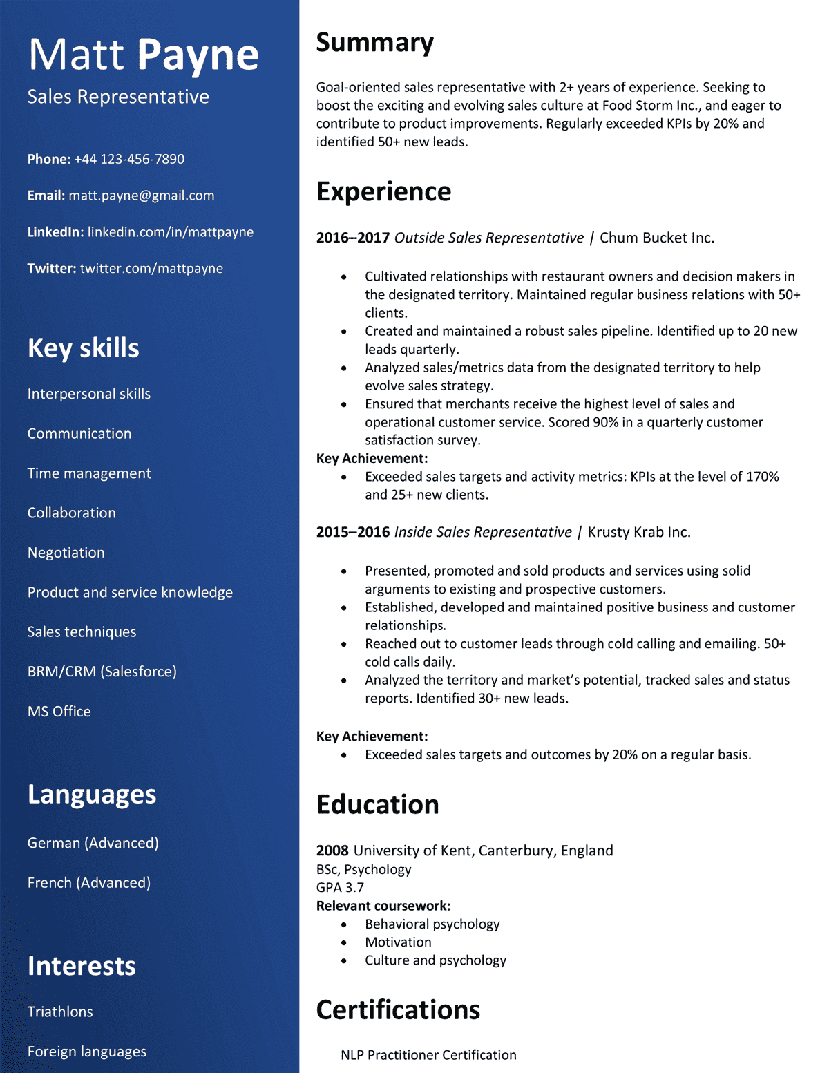 Cv Format Best Curriculum Vitae Formatting Tips