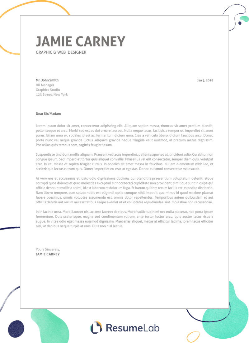 Letter Format Yours Sincerely - template resume
