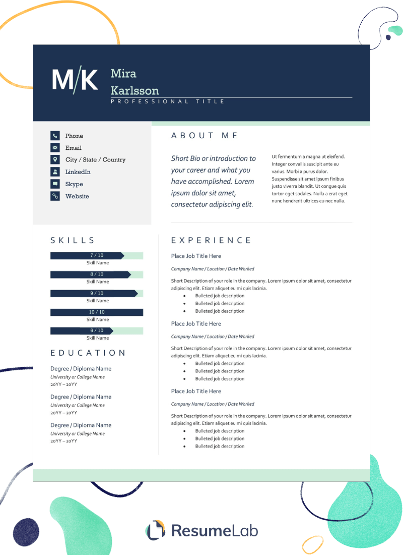 Free Resume Templates—Download & Start Making Your Resume