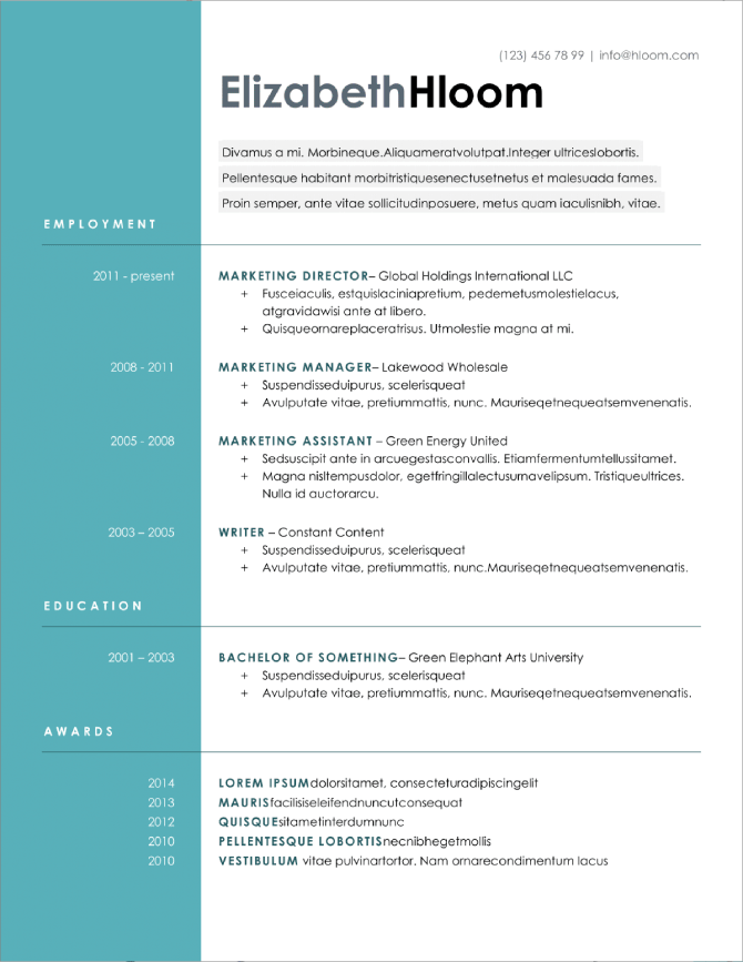Free Resume Templates Download Start Making Your Resume