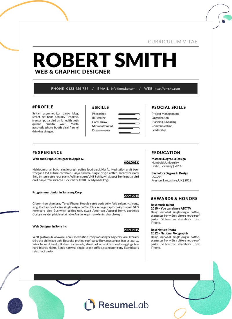 50+ Free Resume Templates for Microsoft Word to Download