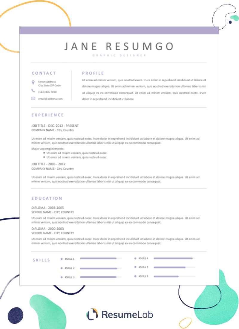 50 Free Resume Templates For Word Modern Creative More