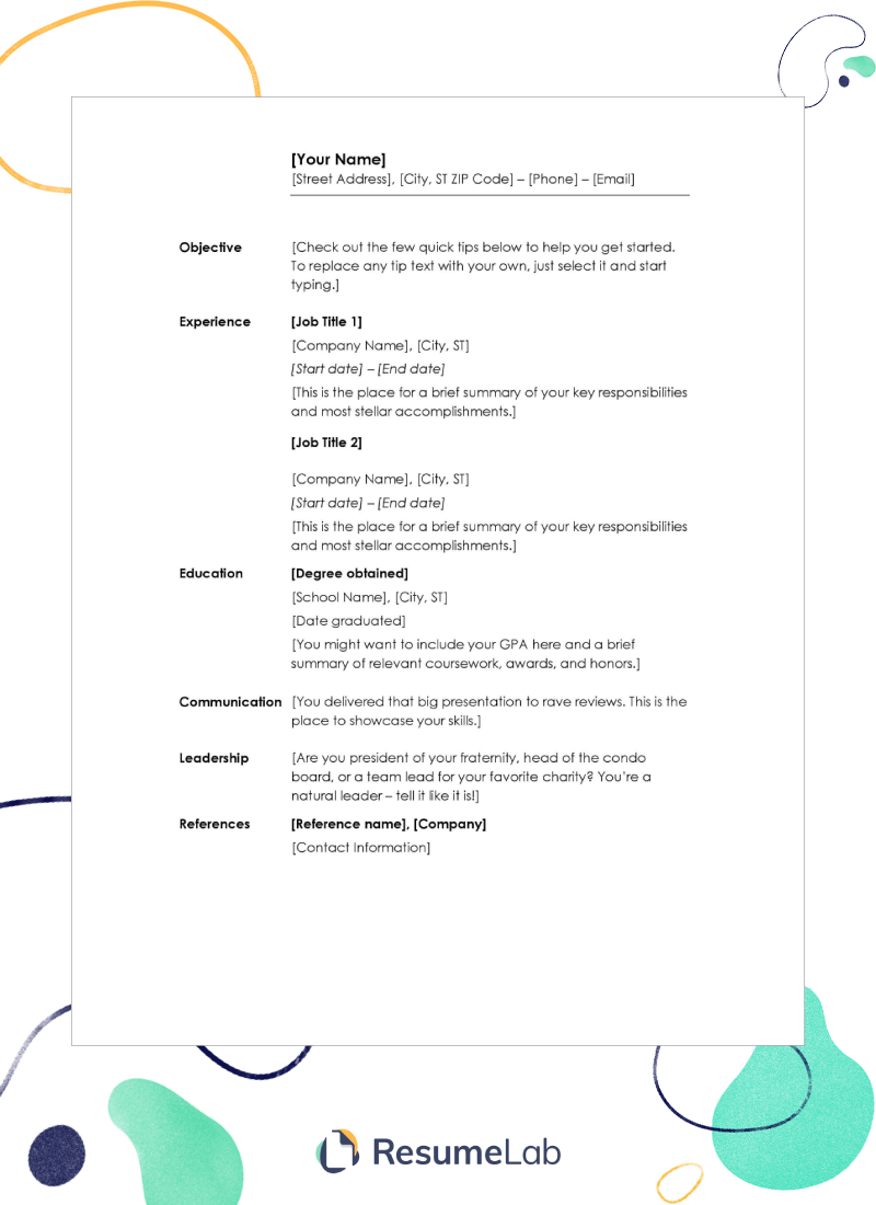 50+ Free Resume Templates for Word: Modern, Creative & More ...