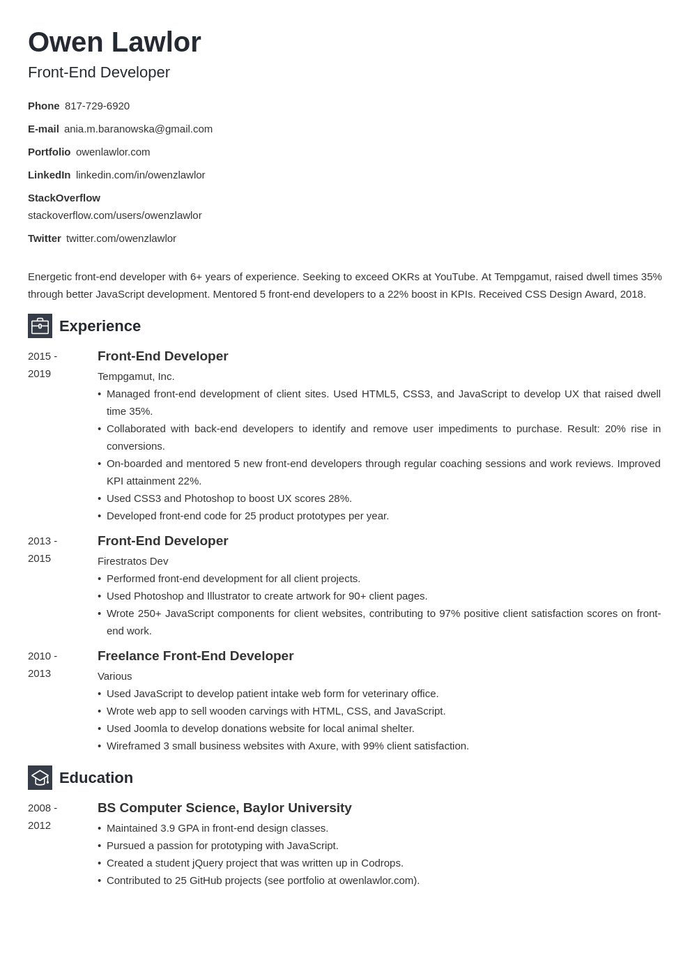 front end developer template newcast uk