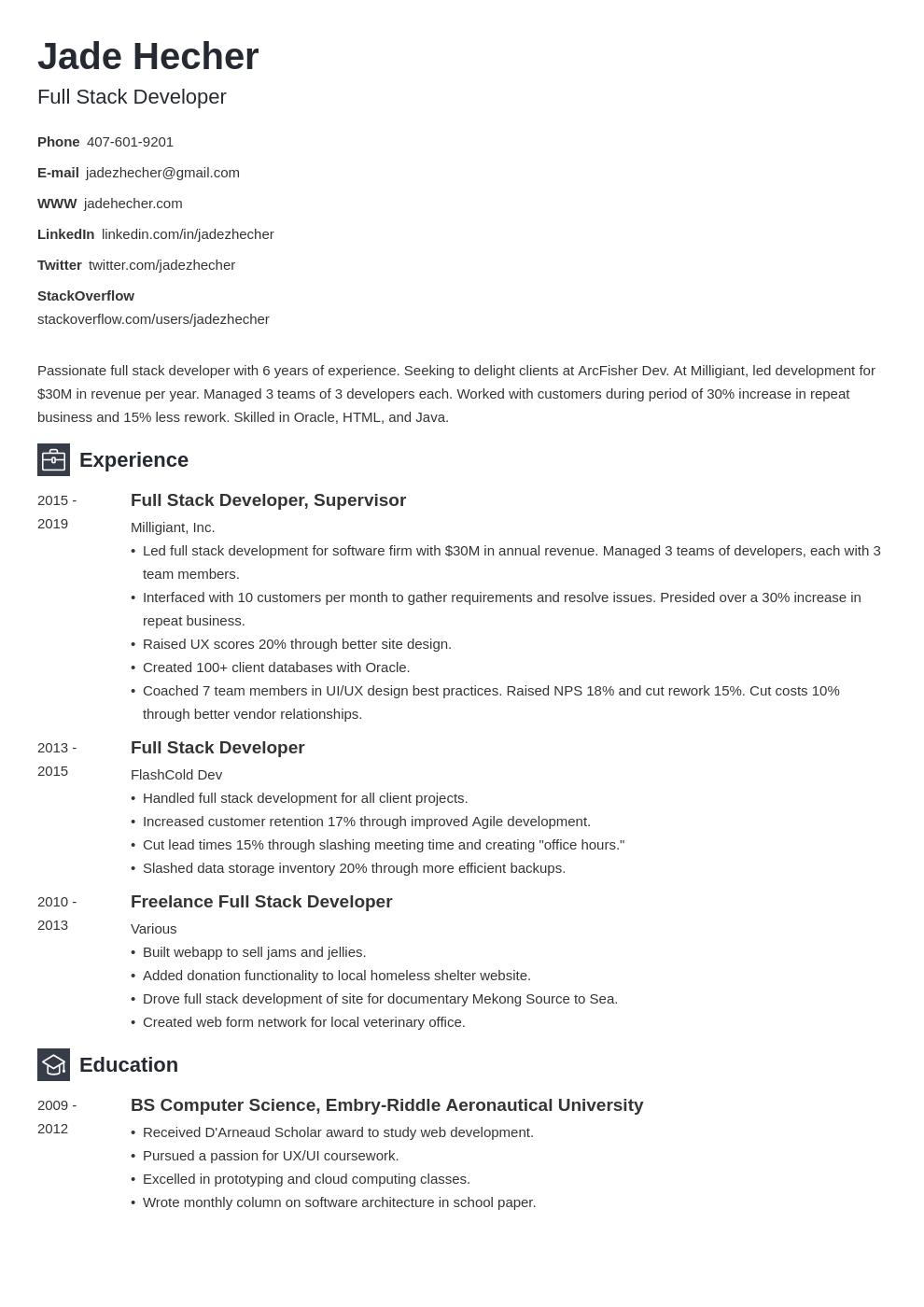 full stack developer template newcast uk