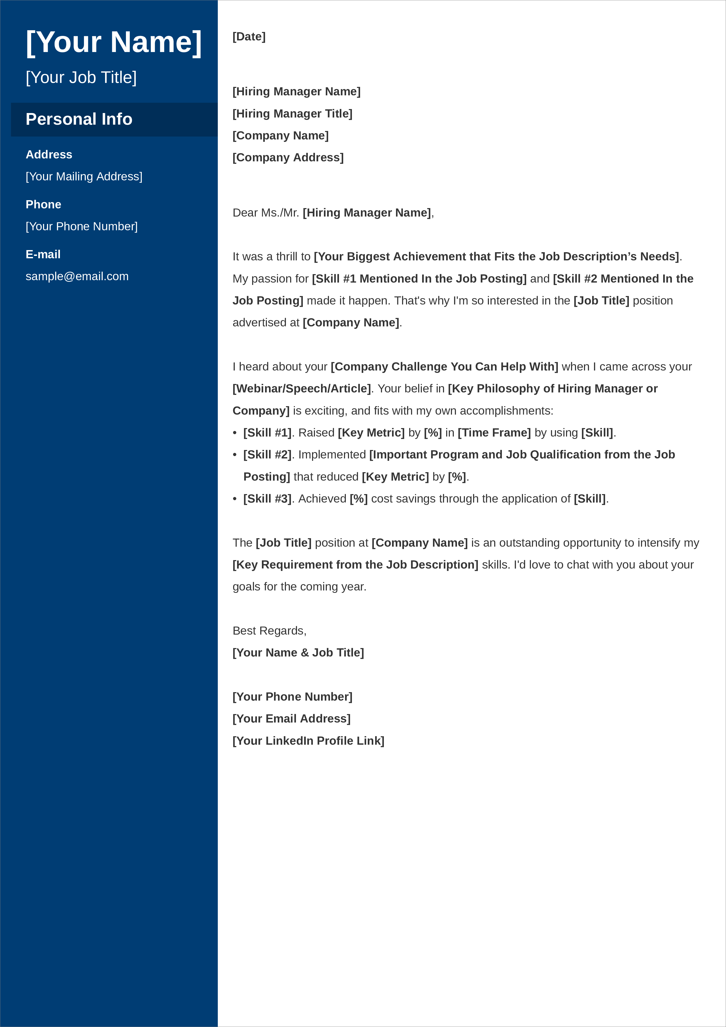 General Cover Letter That S Not Generic 3 All Purpose Samples