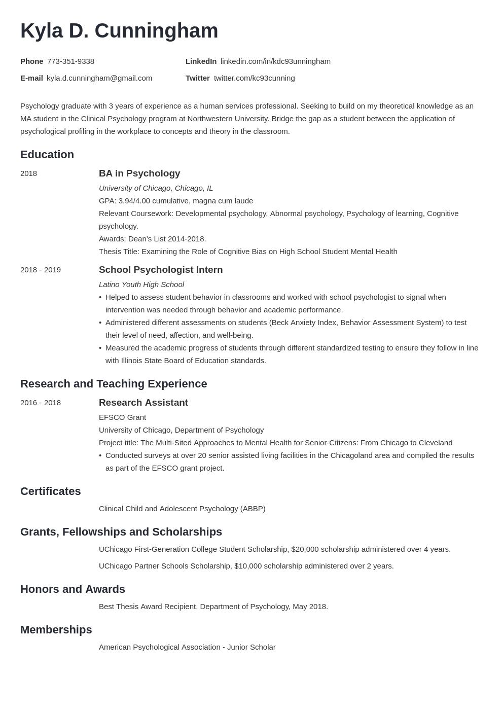 graduate school template minimo uk