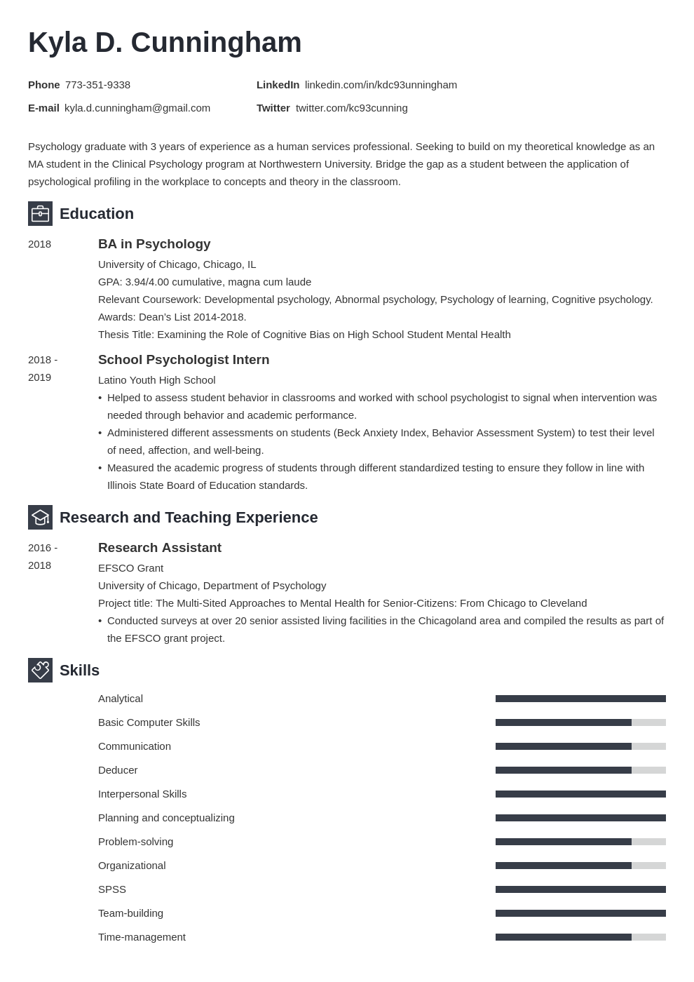 graduate school resumecv—sample guide  tips