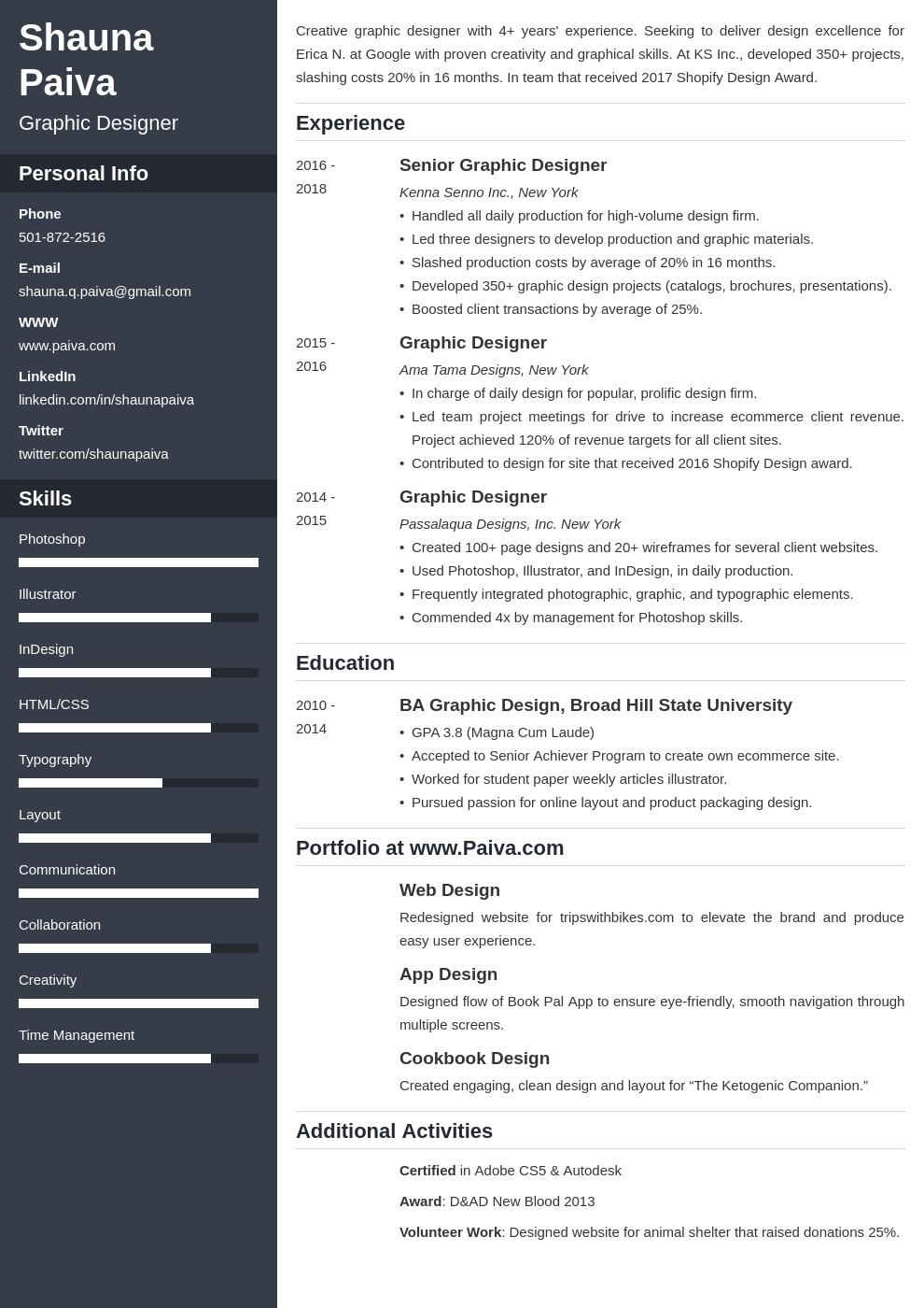 graphic design template cascade