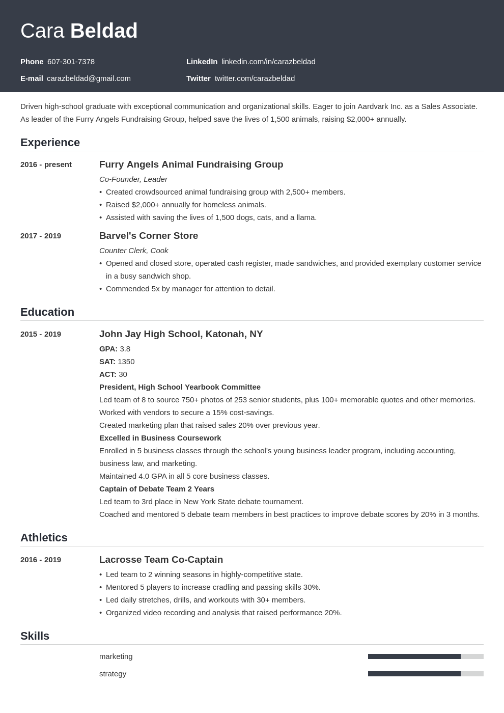 high school graduate template influx