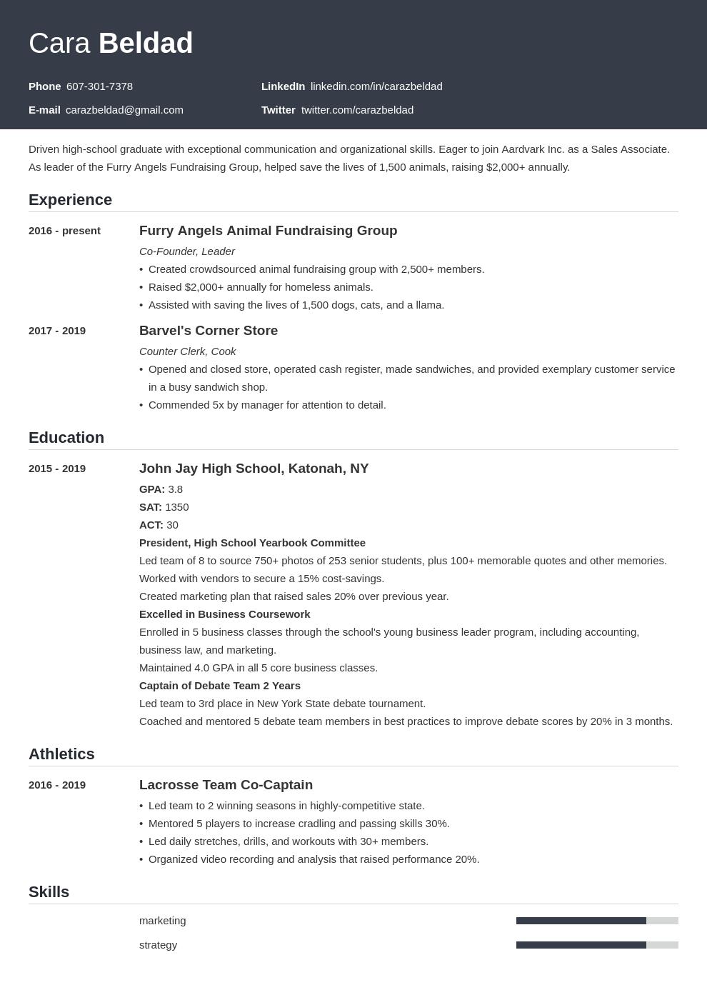 high school graduate template influx