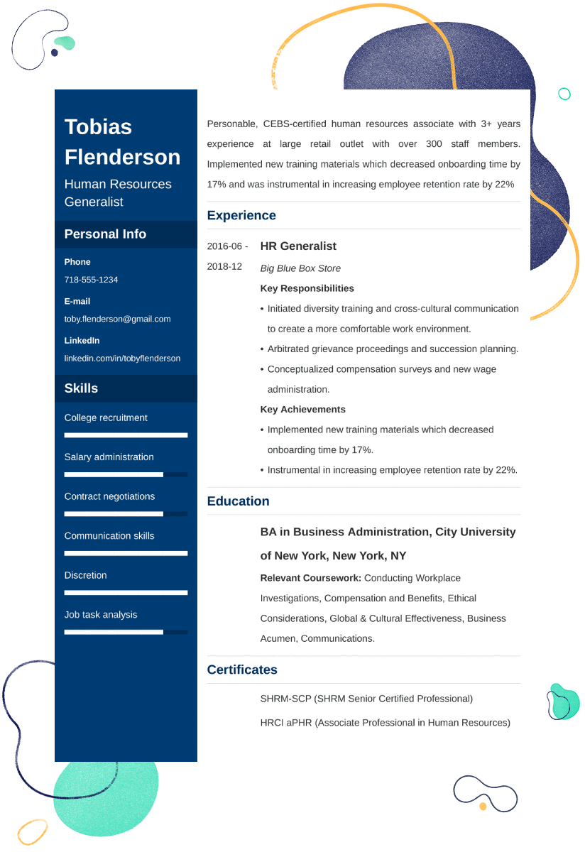 Human Resources Resume Sample: 25+ Examples and Writing Tips