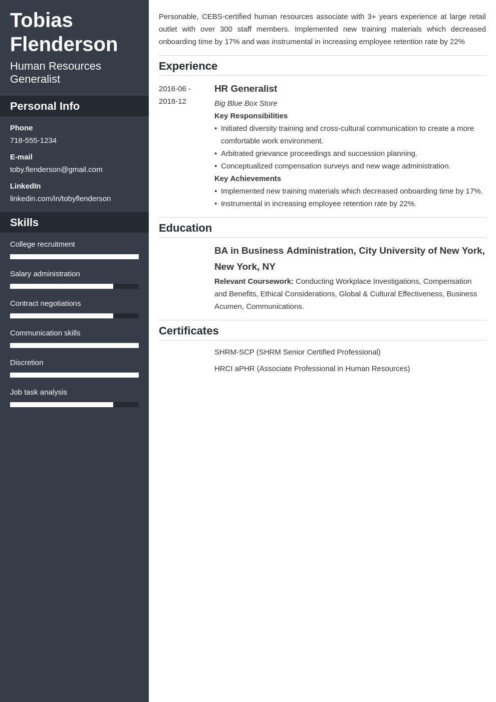 human resources template cascade