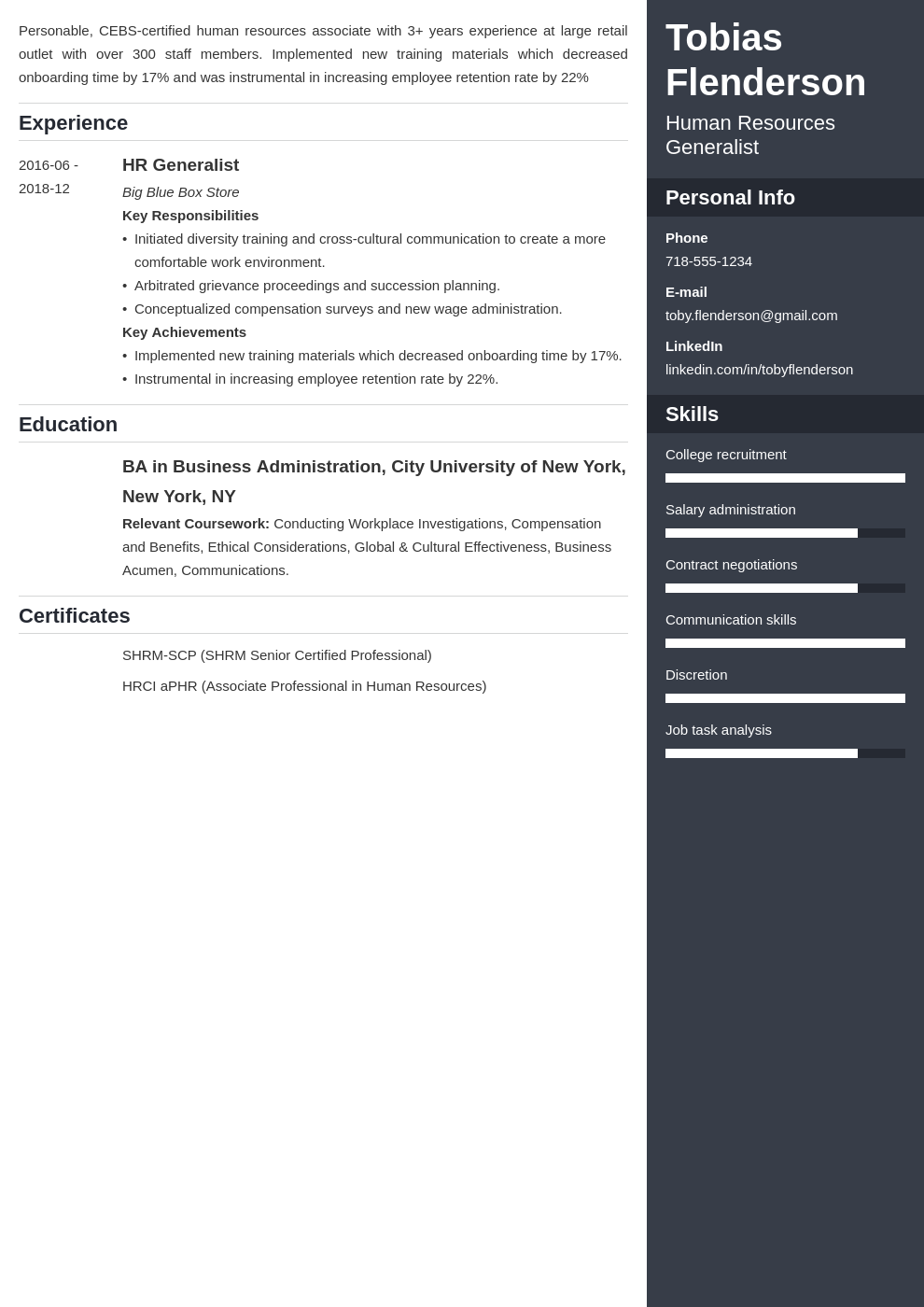 human resources template enfold uk