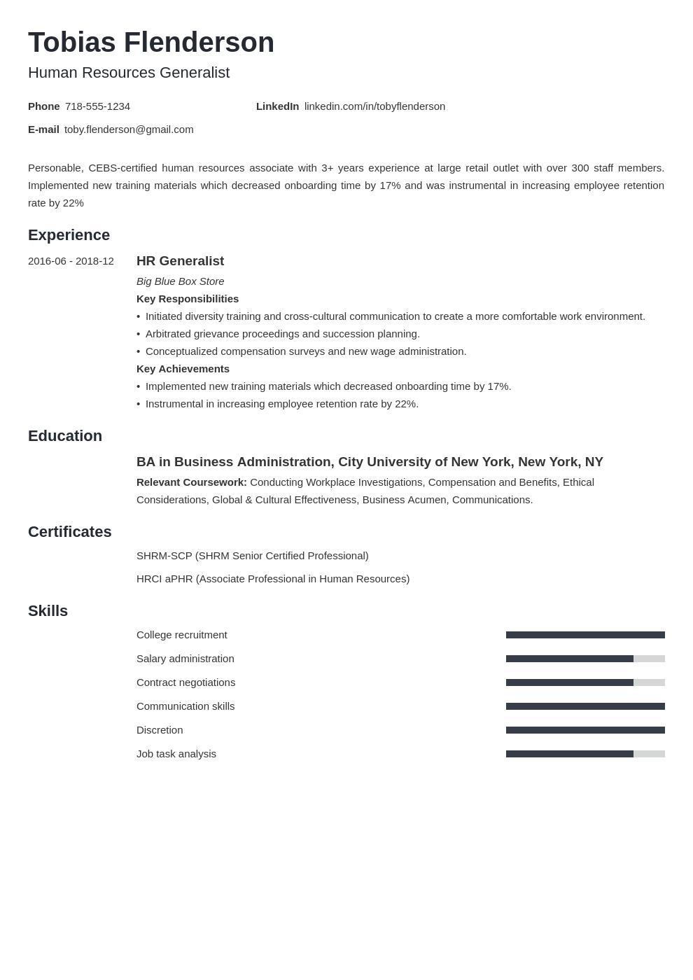 human resources template minimo uk