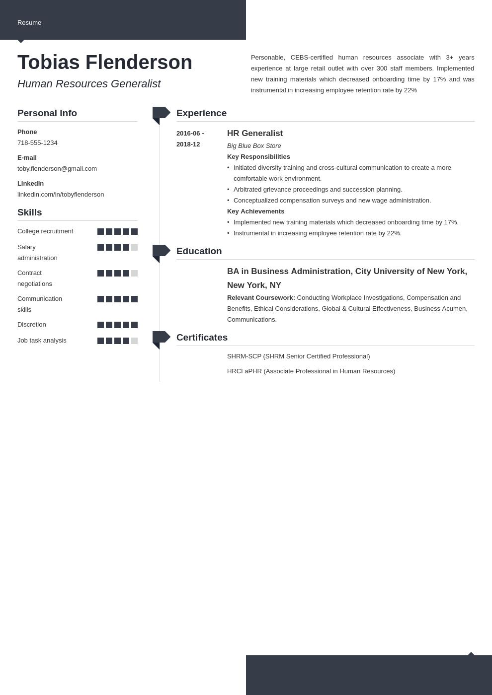 human resources template modern uk