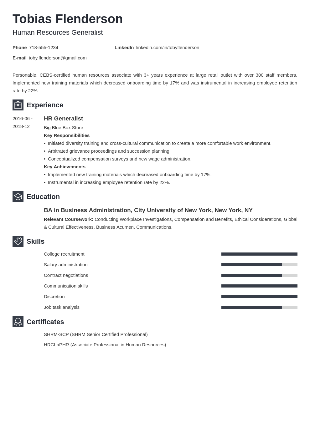 human resources template newcast